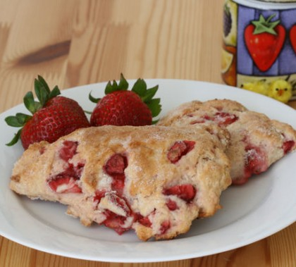 Strawberry And Quinoa Scones Recipe — Dishmaps
