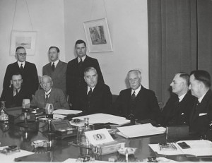 Former Prime Minister, Robert Menzies, with the Advisory War Council, which ran from 1940-1945 (State Library of Victoria)