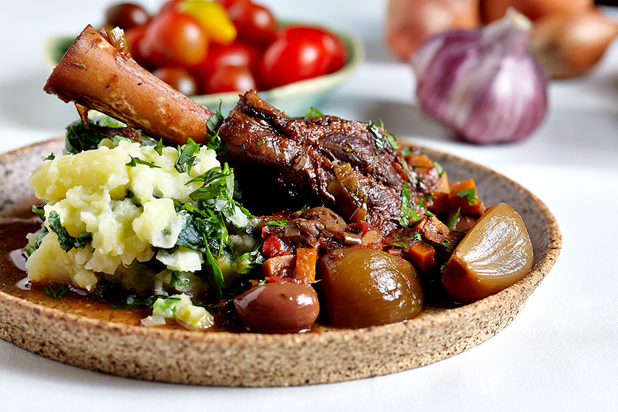 Recipe: Slow-cooked lamb shanks with chorizo