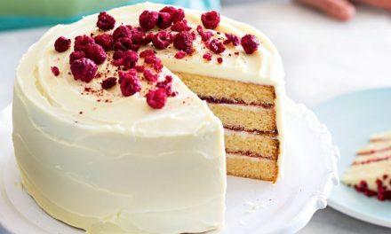 Valentine's Day White Chocolate Cake