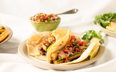 Soft Shell Tacos with Avocado Salsa
