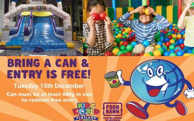 Support Charity and Receive Free Entry: Kids World Playland