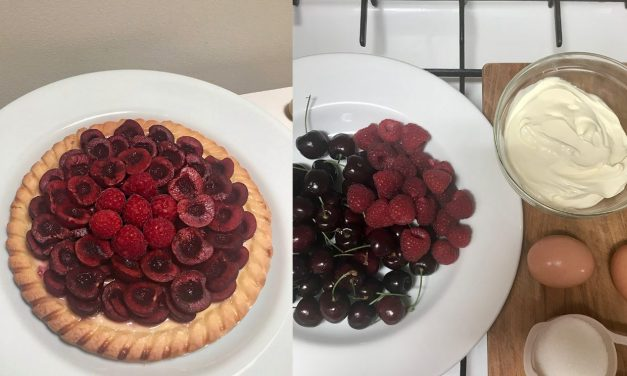 Home Baking: Cherry Custard Tart
